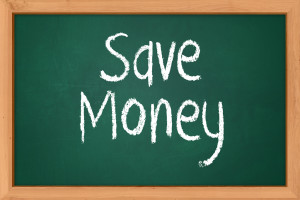 Save Money written on black board