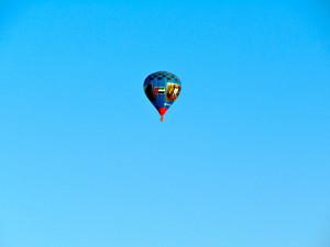 Hot Air Balloon over Dubai Desert