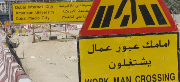 Construction signs in dubai