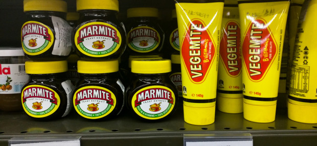 Vegemite on supermarket shelves