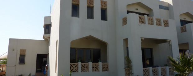 Dubai house with garden