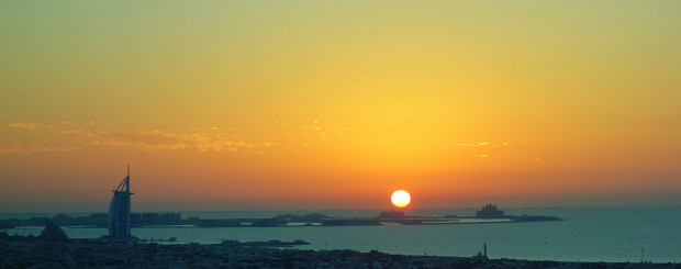 Dubai sunset scenery