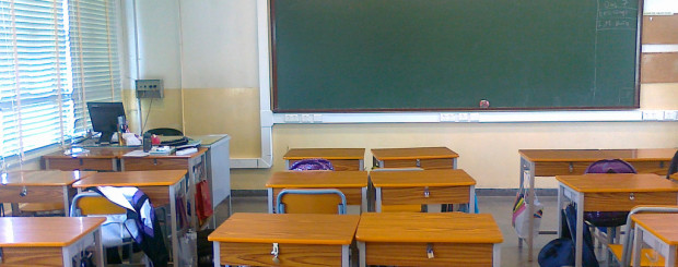 Classroom Desks and Blackboard in Dubai