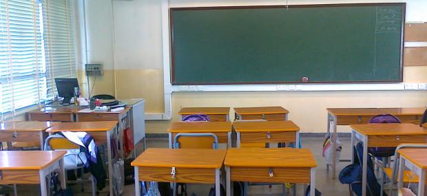 Classroom Desks and Blackboard in Dubai