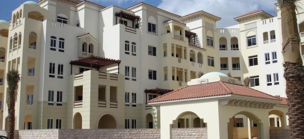Apartment buildings in Dubai
