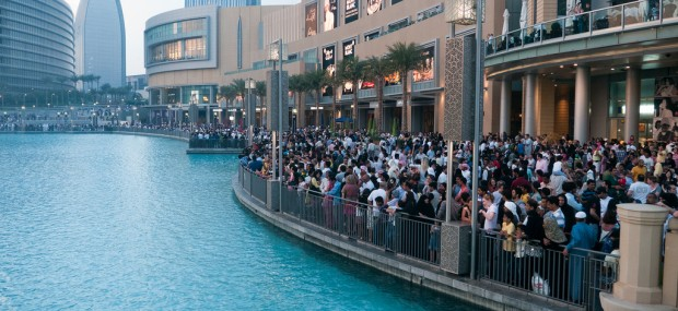 Crowd at Dubai Mall
