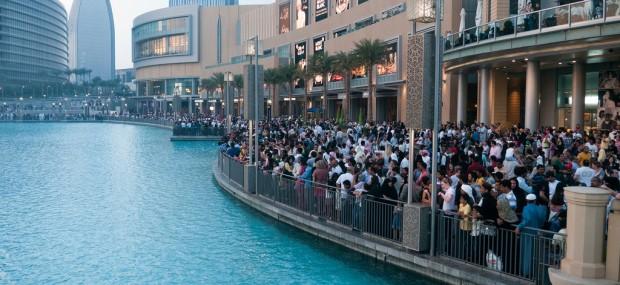 Crowd at Dubai Mall