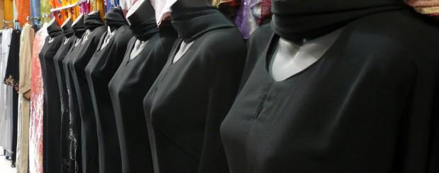 Rack of Abaya fashions