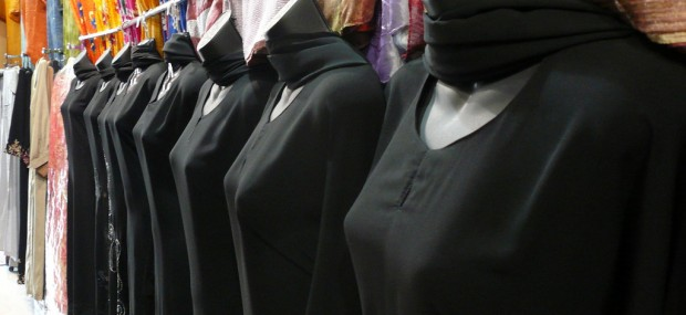 Rack of Abaya fashions